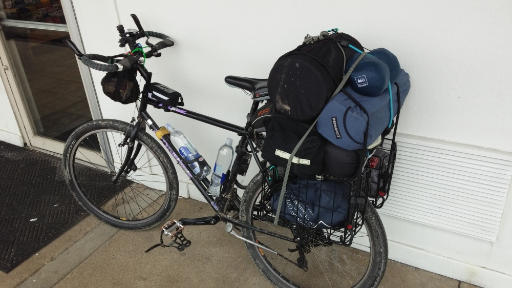 Antoine's Iron Horse AT90 Bikepacking/Touring rig loaded