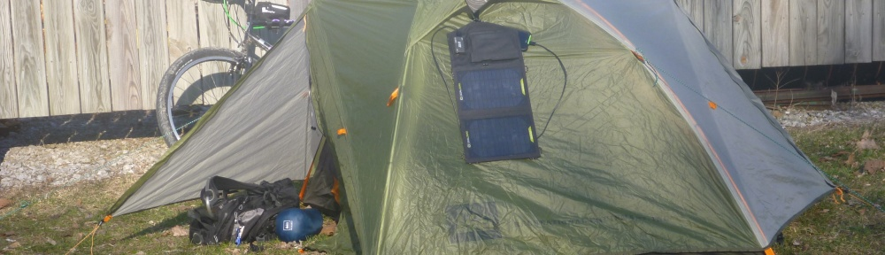 Drying out in the AM with the REI Quarterdome T2 Tent and Goal Zero Nomad 7 Solar panel at Channahon Park