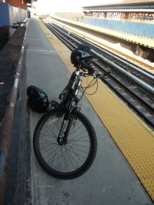 Diamondback Sorrento at NYC A-Train Platform